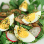 Toplo hladna salata od šunke, jaja i povrća