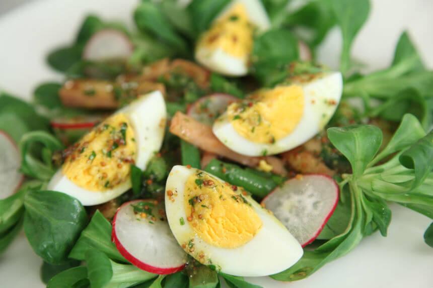 Toplo hladna salata od šunke, jaja i povrća - Fini Recepti by Crochef