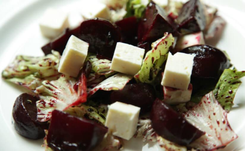 Salata od pečene cikle i feta sira