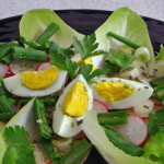 Salata od rotkvica i kuhanih jaja