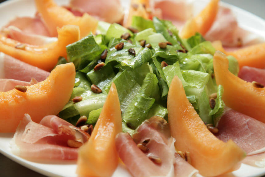 Salata s dinjom i šunkom - Fini Recepti by Crochef