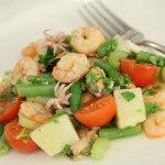 Morska salata s mahunama i krumpirom