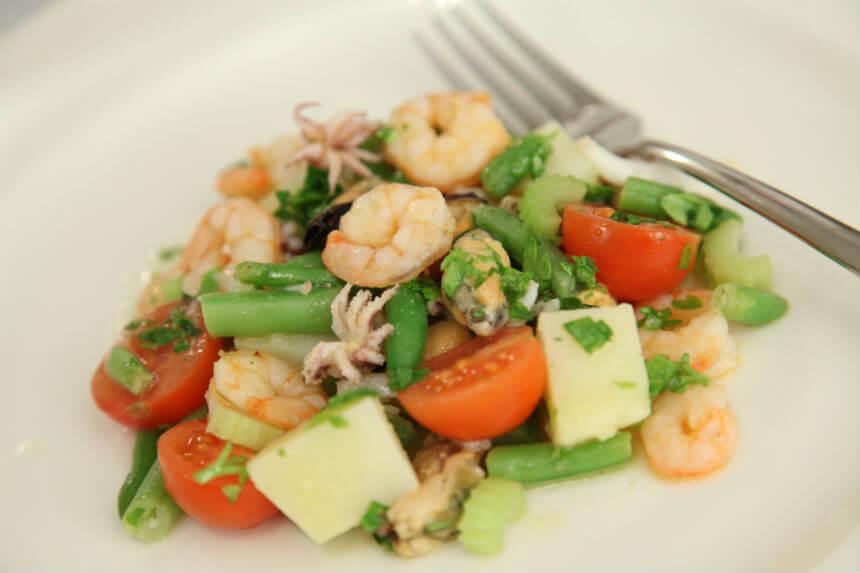 Morska salata s mahunama i krumpirom - Fini Recepti by Crochef