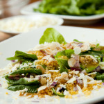 Salata s pancetom, feta sirom, špinatom i couscousom