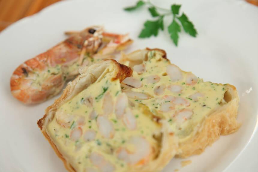 Slani kolač od škampa i morskih kozica - Fini Recepti by Crochef