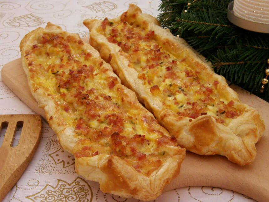 Slani kolač od lisnatog tijesta sa šunkom - Fini Recepti