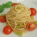 Špageti s mini rajčicama