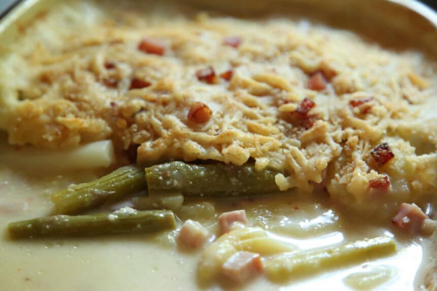 Gratinirane šparoge s krumpirom i šunkom - Fini Recepti by Crochef
