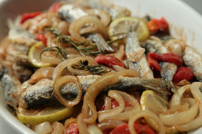 Srdele u marinadi s pečenom paprikom - Fini Recepti by Crochef