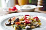 Šurlice s piletinom i šampinjonima na mediteranski način