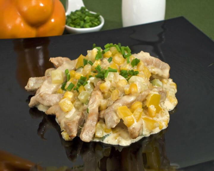 Brza tava sa svinjetinom i povrćem - Fini Recepti