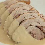 Pečena svinjska rolada u umaku od vrhnja