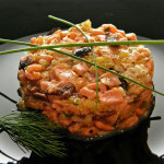 Tartar od ribe s narančom i maslinama