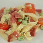 Tagliatelle s pršutom i bobom - Fini Recepti by Crochef