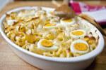 Gratinirana tjestenina sa šunkom i tvrdo kuhanim jajima