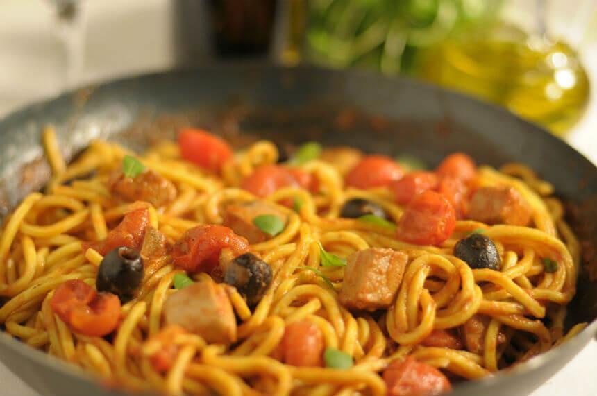 Tjestenina s tunom i cherry rajčicama - Fini Recepti