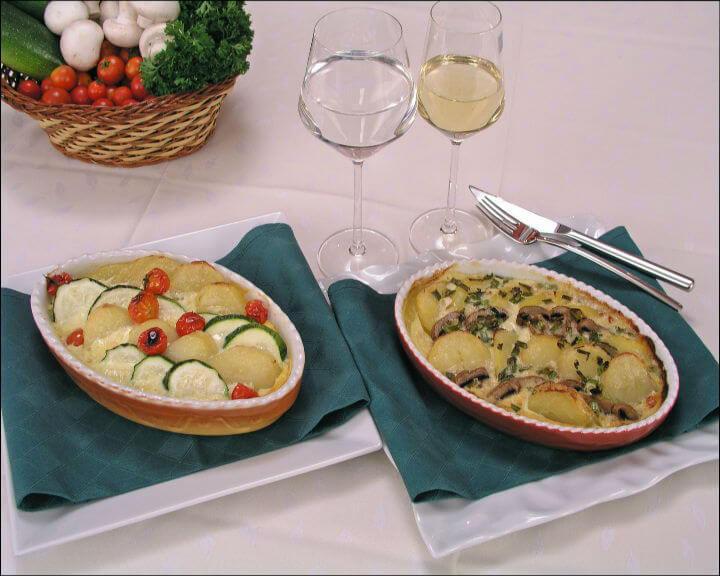 Zapečeni krumpir s tikvicama i šampinjonima