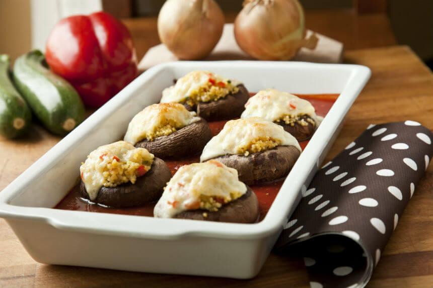 Gratinirani šampinjoni s prosom i mozzarellom - Fini Recepti by Crochef