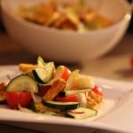 Mediteranska salata s kajganom i povrćem