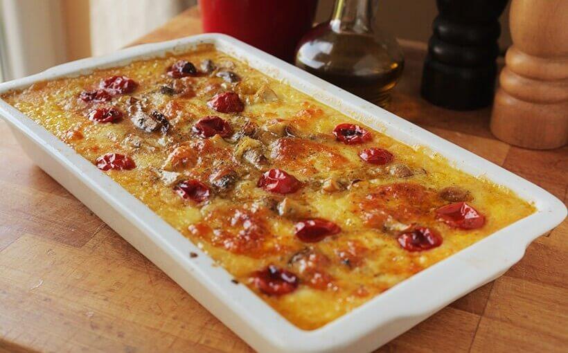 Palenta iz pećnice s mini rajčicama