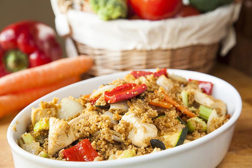 piletina s povrćem i cous cousom