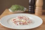 Švicarska salata - salata od parizera, luka i sira