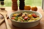 Salata od dagnji i repova kozica s povrćem