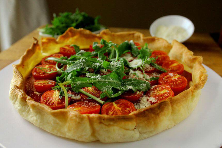 Aromatična pita od mini rajčica