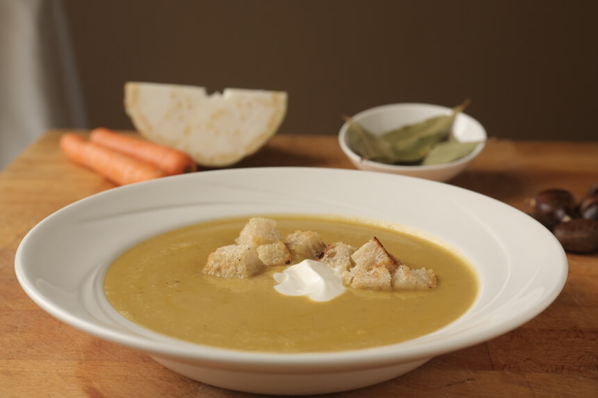 Krem juha od povrća i kesten pirea