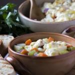 Pikantna juha od povrća, tjestenine i sira