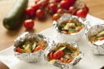 Povrtne košarice s tikvicama i mini rajčicama