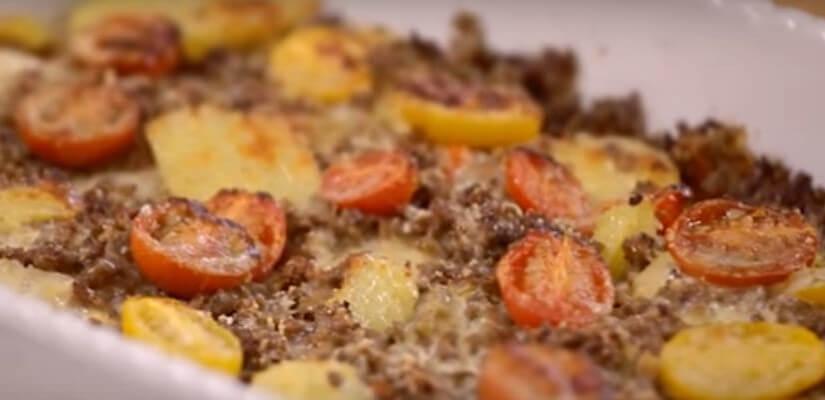 Musaka s junetinom i mini rajčicama
