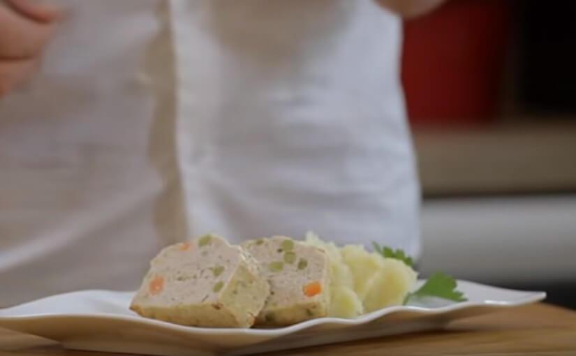 Torta od puretine s pireom od krumpira i komorača