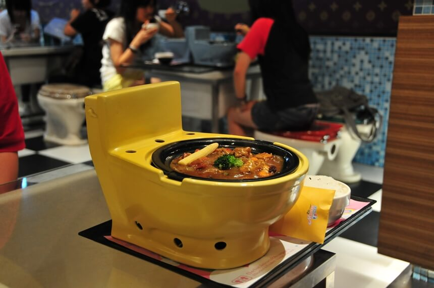 tajvan - restoran toalet
