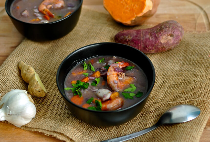 caribbean-coconut-seafood-soup