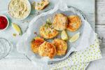 Kroketi od krumpira i lososa sa začinjenom majonezom