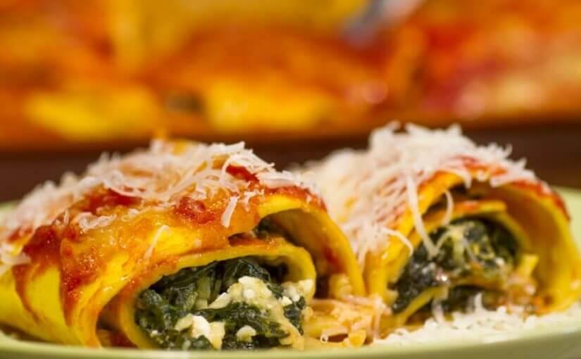 Cannelloni sa špinatom i svježim sirom