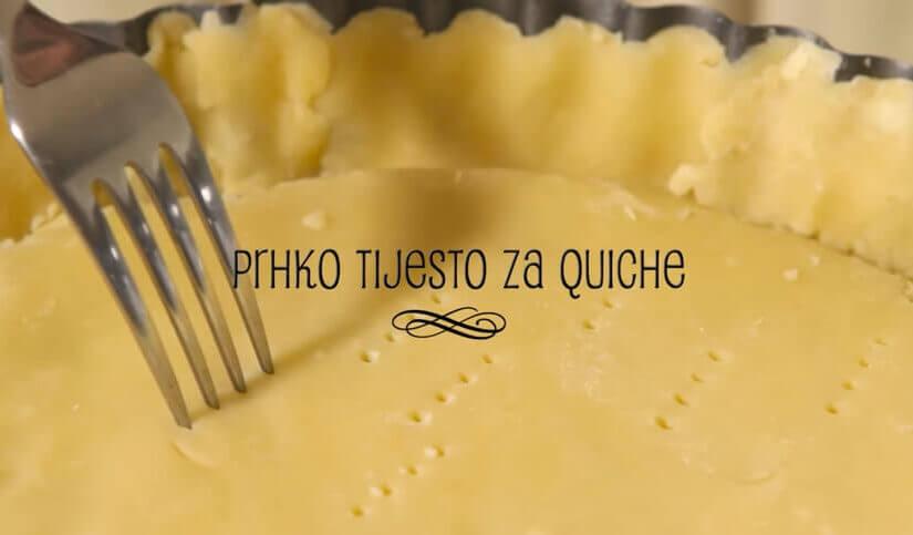 Prhko tijesto za quiche